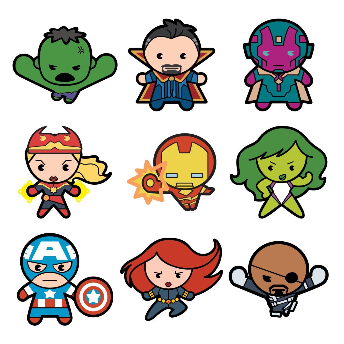 Cricut Marvel Avengers Kawaii Digital Cartridge