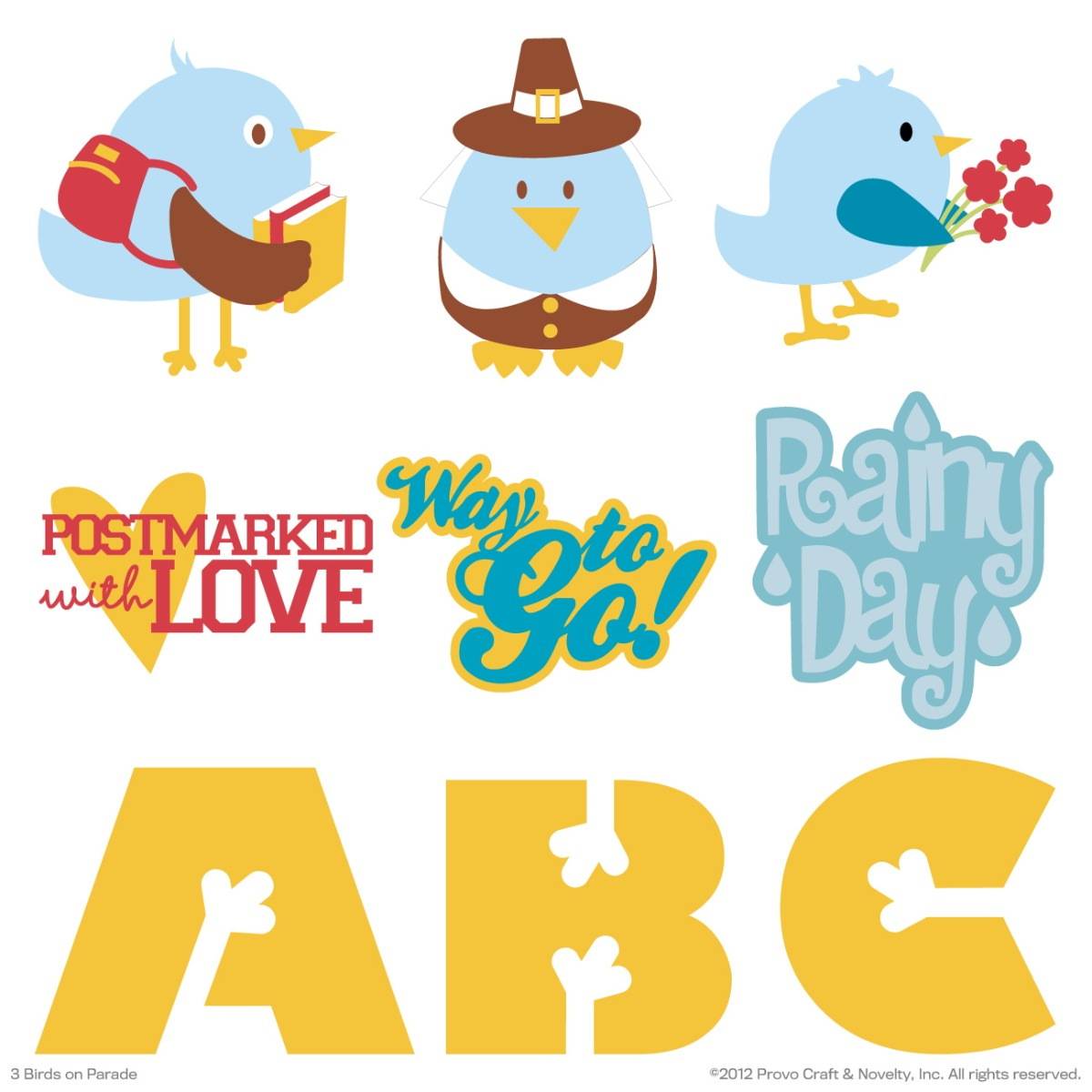 Cricut Birds On Parade Digital Set